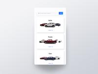 Mobile UI for Car Dealer Website Refresh