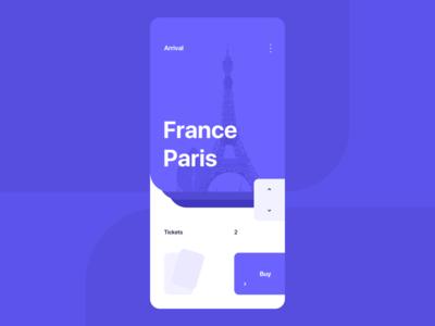 Lightweight new modern clean lightweight ui france paris purple concept purple app purple