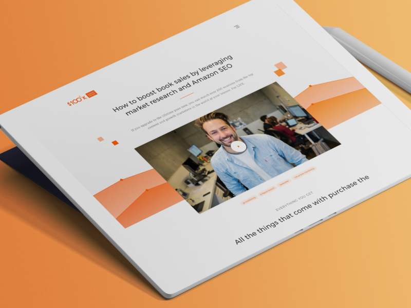 Digital Summit Sales Page clean web design website website concept design concept landing page design orange web design orange website orange landingpage