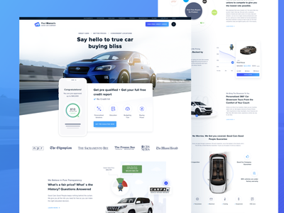 Car Dealer Refresh clean ui car dealer website car dealership website car web design car website car landing page landing page rebranded website rebrand car dealership car dealer car website design webdesign