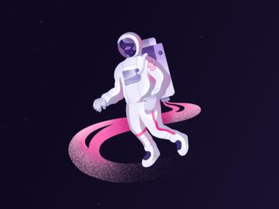 Astronaut Exploring