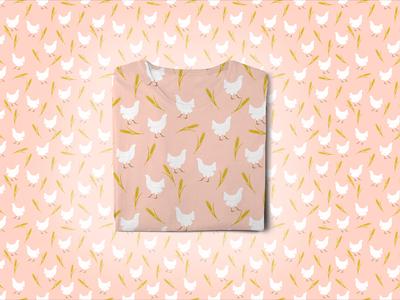 Farm Animal Pattern - Chicken
