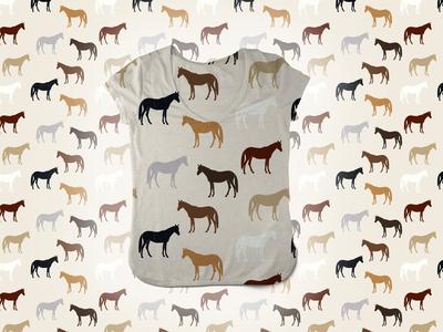 Farm Animal Pattern - Horse