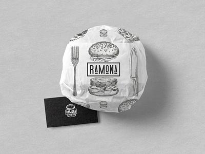 RAMONA - FAST FOOD BISTRO design traditional strategy logodesign logo branding brand identity brand