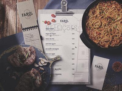 CAFÉ FAROL flat design traditional strategy logodesign logo branding brand identity brand