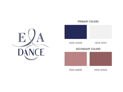 E&A Dance Color Scheme graphic design ballroom ballroom dance branding logo logo design