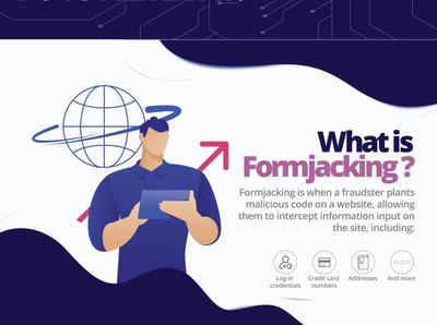 Formjacking Infographic typography typeface typogaphy ux ui illustration logo icon minimal branding design brand infographic design infographic