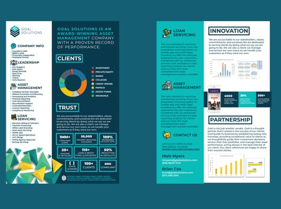 A4 PDF Company Sell Sheet abstract mark vector minimal flat brochure flyer a4 brochure innovative abstract a4 pdf sell sell-sheet blue brand