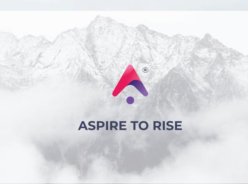 Logo Proposal #1 identity abstract mark vector logo design logo branding minimal brand purple hair purple logo flat purple aspire
