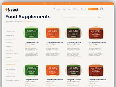 Ecommerce Store for Web Design Project brand shop supplements ecommerce app ecommerce flat web design webdesign website user interface design ux uiux ui webstore