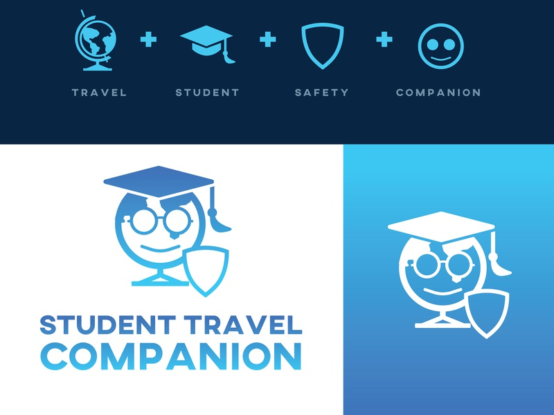 Insurance Company Logo typography blue app ui mockup identity abstract mark logo vector branding logo design flat design brand minimal icon