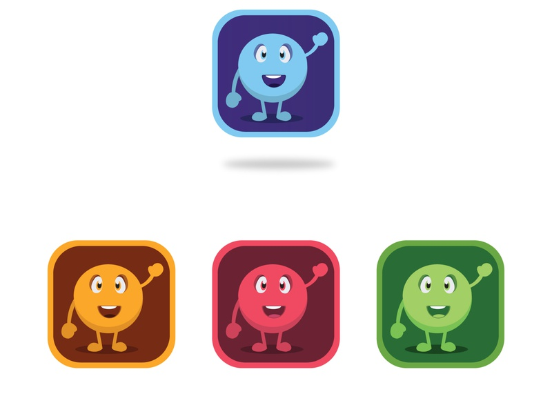 App Icon Character abstract mark vector branding logo design logo flat minimal design icon brand app