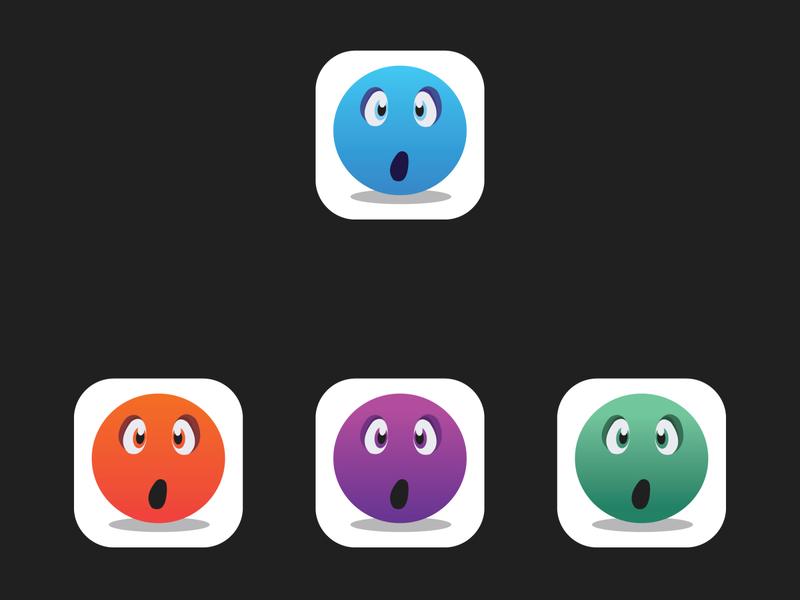 App Icon Suprised vector branding app logo design logo flat minimal design icon brand