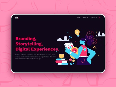 Design Studio Landing page adobe xd illustration figma landing page design landingpage landing page landing website design webdesign web design website web we ui  ux uiux uidesign ui design ui
