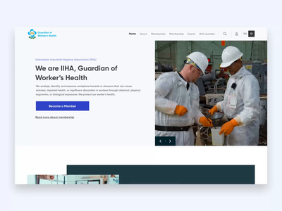 IIHA Website - Indonesian Industrial Hygiene Association desktop animation web ux ui health organization non profit company profile webdesign profile website association hygiene industrial