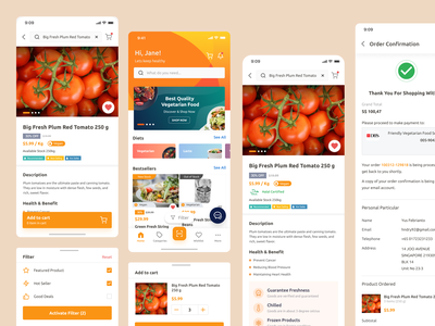 Friendly Vegetarian mobile app singapore vegan meal eat food health diets ios market ux ui ecommerce shop vegetables fresh vegetarian mobile app marketplace