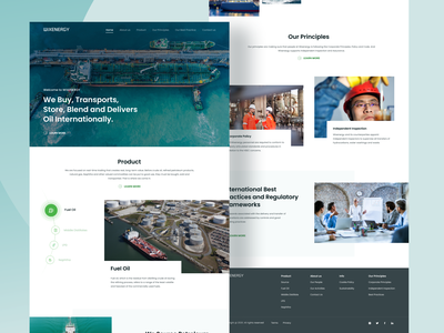 WixEnergy homepage naptha web ux ui website design bunker tanker middle distilates fuel oil delivery trade oil profile company website energy