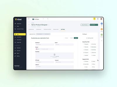 Form Builder - Tiimi - HRM saas interaction creation ux ui webapp app dashboard crm hrs hrm management creator builder form