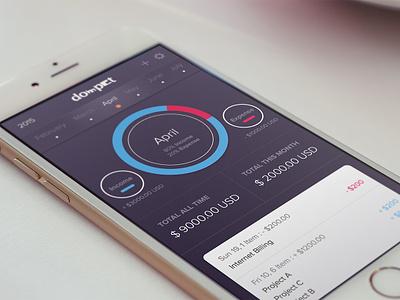 Dompet - Wallet App management money income expense wallet freebies free ios app ux ui