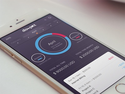 Dompet - Wallet App management money income expense wallet freebies free ios app ux ui