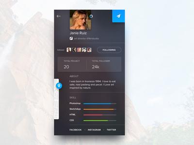 Random Exploration - Profile Page profil page iphone about user skill ios app ui profile