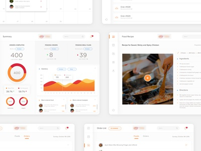 Dashboard Food Provider - More Screens