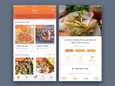 Food Delivery Mobile App plan meal order nutrition ux ui mobile app delivery food