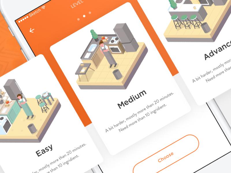Dribbble recipe app level