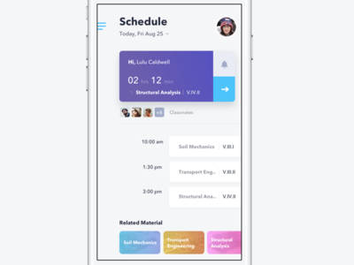 Schedule University App lms lerning university schedule event app ux ui scheduling