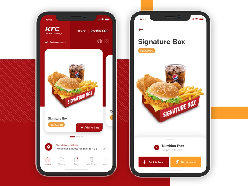 Kfc Delivery App Exploration By Bagus Fikri Dribbble Dribbble