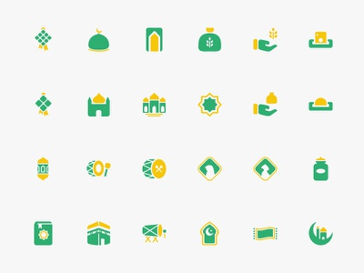 Ramadhan & Eid al-Fitr Theme Icons ramadan eid icons free freebies svg mosque charity kaba quran moslem islam