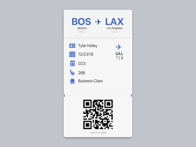 DailyUI 024 - Boarding Pass