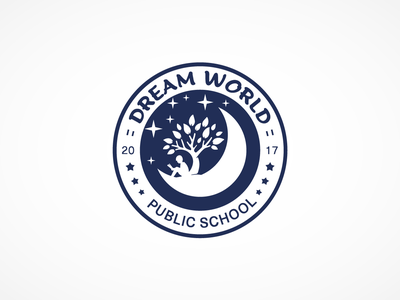 Dream World Public School logo grapgic design branding logo