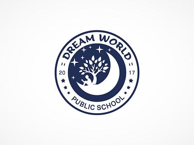 Dream World Public School logo grapgic design branding logo