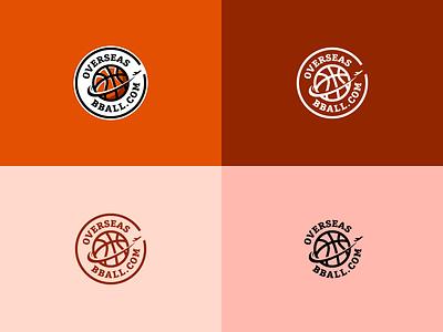 OverseasBBall.com Logo illustration grapgic design logo branding