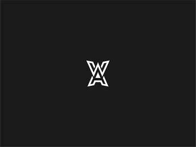 WA or AW monogram illustration grapgic design logo branding