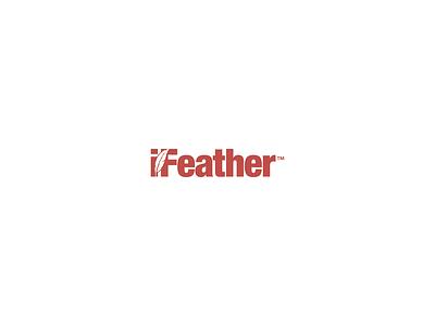Ifeather feather ifeather design illustration grapgic design logo branding