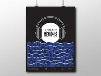 I Listen to Memphis poster