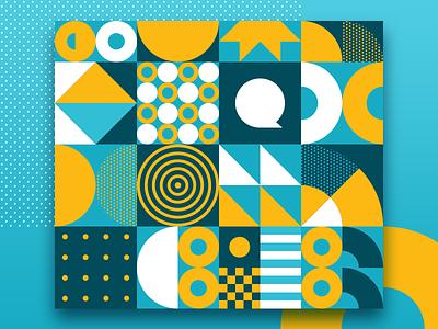 Quero Bolsa geometric patterns patterns branding