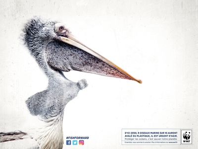 WWF - Ad campaign nature pollution ocean advertising bird wwf