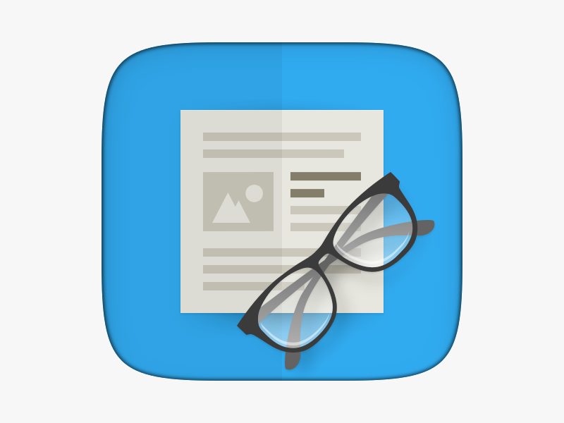 Ubuntu RSS Reader App Icon by Sam Hewitt on Dribbble