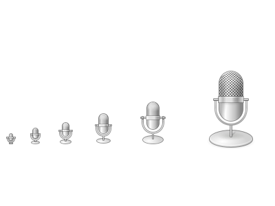 Microphone Icon icon inkscape elementary
