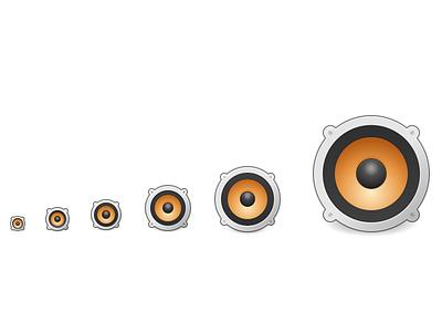 Speakers Icon icon inkscape elementary