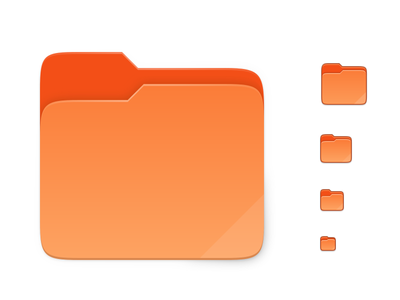 Suru Folders folder icons