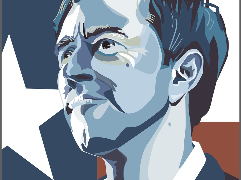 Beto For Texas politics illustration portrait vector art