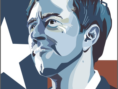 Beto For Texas politics illustration portrait vector art