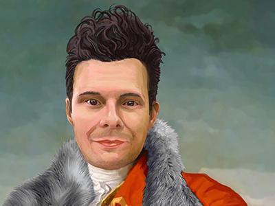 Herr VonFrankfurter wacom tablet custom art pop art portrait photoshop