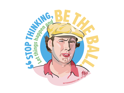 Quotable Caddyshack portrait fan art quotes movies illustration characters vector art