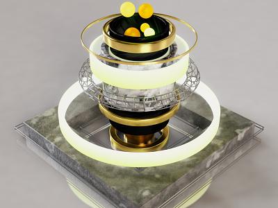 Light spheres adobe maxon c4d physical render digital art 3d motion designinspiration