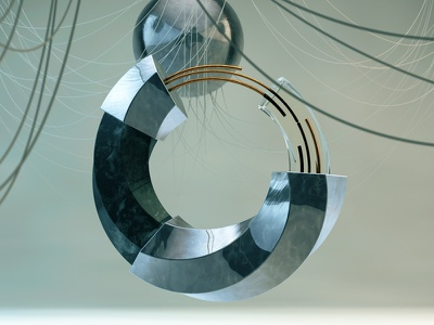Steel ring cinema4d c4dart design maxon motion render physical render 3d digital art c4d